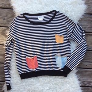 Anthropologie Numph Striped Sweater